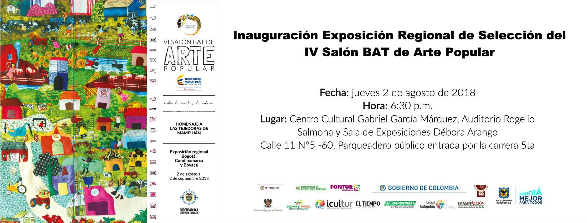 Invitación Exposición Bogotá 2 de agosto
