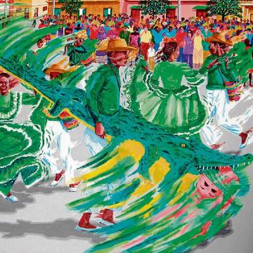 Fiesta del Caiman Cienaguero en Cienaga (Magdalena)